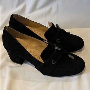 Heeled Suede Loafers